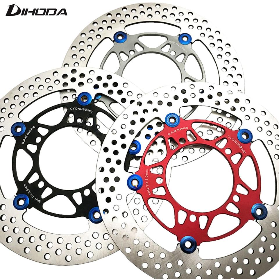 Universal 260mm Aluminum alloy Floating disk motorcycle brake disc brake pads Rapid cooling For motorcycle rear disc brake<br>