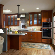 2017 wood kitchen cabinets traditional type solid wood kitchen furnitures cheap priced kitchen island with storage S1606005
