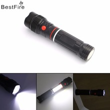 Bestfire Mini COB LED Flashlight Multifunction led Torch light Magnetic Working Inspection Lamp Pocket Waterproof outside Light(China)