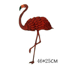 46 * 25 cm Large Crane Bird Patch Animal Embroidered Patches Sew on Motif Applique DIY accessory