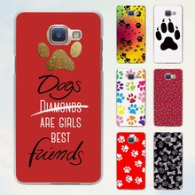 Dogs are girls best friends Dog paw style transparent clear phone shell case for Samsung Galaxy A3 A510 A7 2017 A8 A9 A5 2017(China)