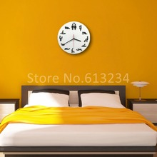 Free Shipping 10 Pieces Sex Position Clock / 24Hours Sex Clock / Novelty Wall Clock