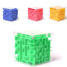 3D Maze Magic Cube Rolling Ball Fun Labyrinth Cube Maze Board Game Puzzle Magic Kid Anti stress Squeeze Educational Learning Toy