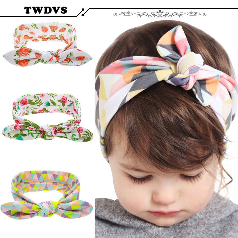 TWDVS Baby Kids Toddler Infant Flower Floral Hairband Turban Rabbit Bowknot Baby Headband Headwear Hair Band Accessories kt-060<br><br>Aliexpress