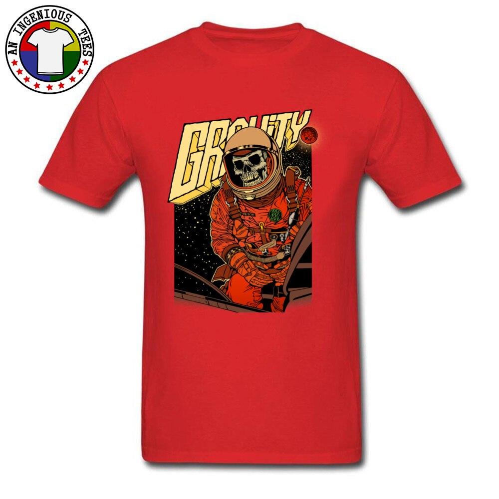 FashionableNormal Short Sleeve Tops Shirt Mother Day Latest Round Collar 100% Cotton T Shirt Men T-Shirt GRAVITY  GRAVITY red