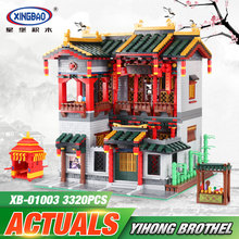 Xingbao 01003 3320Pcs Creative MOC Series The Yi-hong courtyard Set Children Educational Building Blocks Bricks Toys Model Gifts
