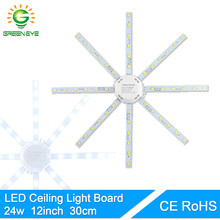 GreenEye 24w 12inch High Bright Ceiling Replace Lamp LED Light Board Modified Light Source Led Bulb Plate Tube Plafon Accessory(China)