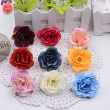 10pcs/lot 4cm Silk Rose Artificial Flower For Wedding Home Decoration Mariage Flores Clothing Shoe Hats Accessories Rosa Flowers