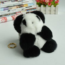 New Europe And Korean Style Cute Version Rex Panda Fur Doll Ball Keychain Explosion Of Red Panda Ring And Car Pendant/ toy