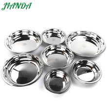 JIANDA Dinner Plates 304 Stainless Steel Kitchen Plate Home Supplies Tableware Multifunctional Food Tray Plate Dishes(China)