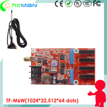 TF-M6W WIFI led sign control card / simple to operate p10 1r rg rb led controller / digital scrolling message led board control(China)