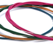 Colorful Acoustic Guitar Strings set Multi Color A407 Rainbow Strings Acoustic Wound Guitar Strings 6pcs/set(China)