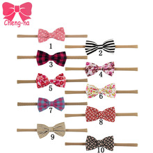 Buy 10pcs/lot Bourique Elastic Nylon Headband Fabric Bow Girls Hair Accessories Kids Elastic Headband for $7.98 in AliExpress store
