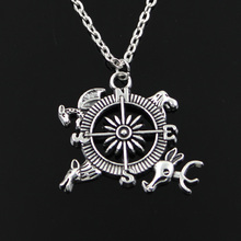 new fashion Game of Throne Topic Guide compass Pendants round cross chain short long Mens Womens silver necklace Jewelry Gift(China)