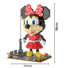 Bevle HC 9015 1320Pcs Mickey Minnie Cartoon DIY Magic Blocks Diamond Building Block Toys Compatible with Lepin