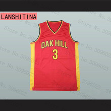 LANSHITINA BRANDON JENNINGS #3 OAK HILL HIGH SCHOOL JERSEY BLACK Red(China)
