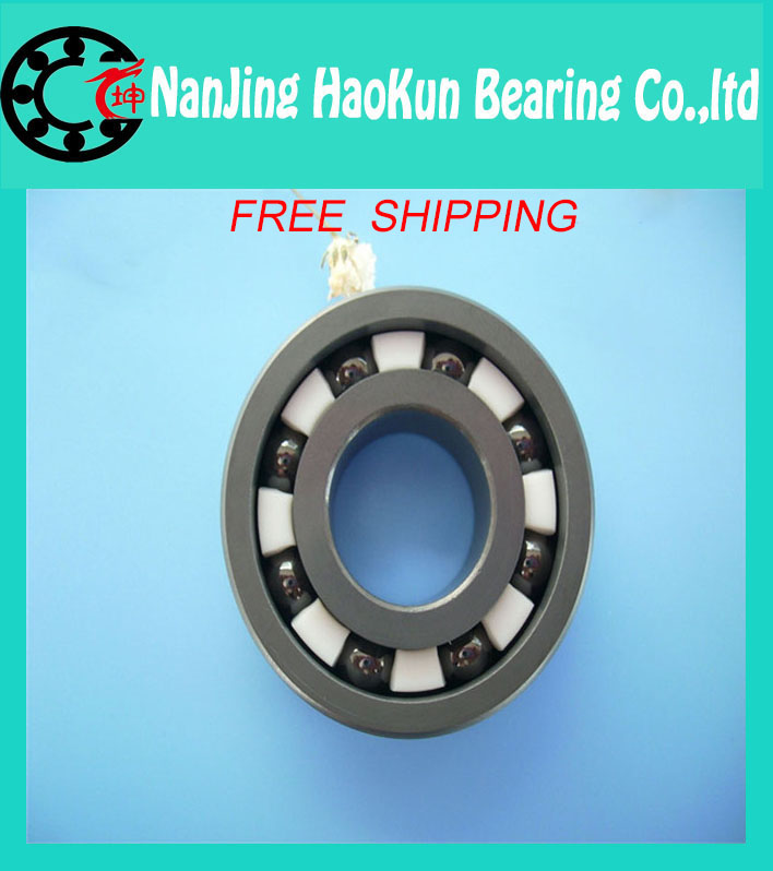 Free shipping 6200 full SI3N4 ceramic deep groove ball bearing 10x30x9mm full complement<br><br>Aliexpress