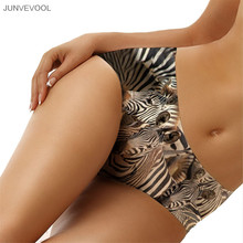 Women Underwear 2017 Knickers 3D Zebra Printing Animal Tattoo Underpants Sexy Knickers Panties Lingerie Briefs Underwear