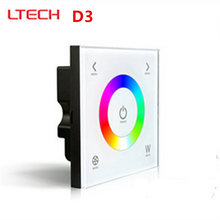 LTECH D3 New Led Touch Panel Rgb Controller Glass Touch Panel Wall Mount Led RGB Full Color Controller DC12-24V 5 YEARWARRANTY(China)