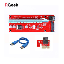 Buy 10pcs New Red VER007S PCI Express Riser Card 1x 16x PCI-E Riser extender 60cm USB 3.0 Cable 15Pin SATA BTC Mining rig for $48.21 in AliExpress store