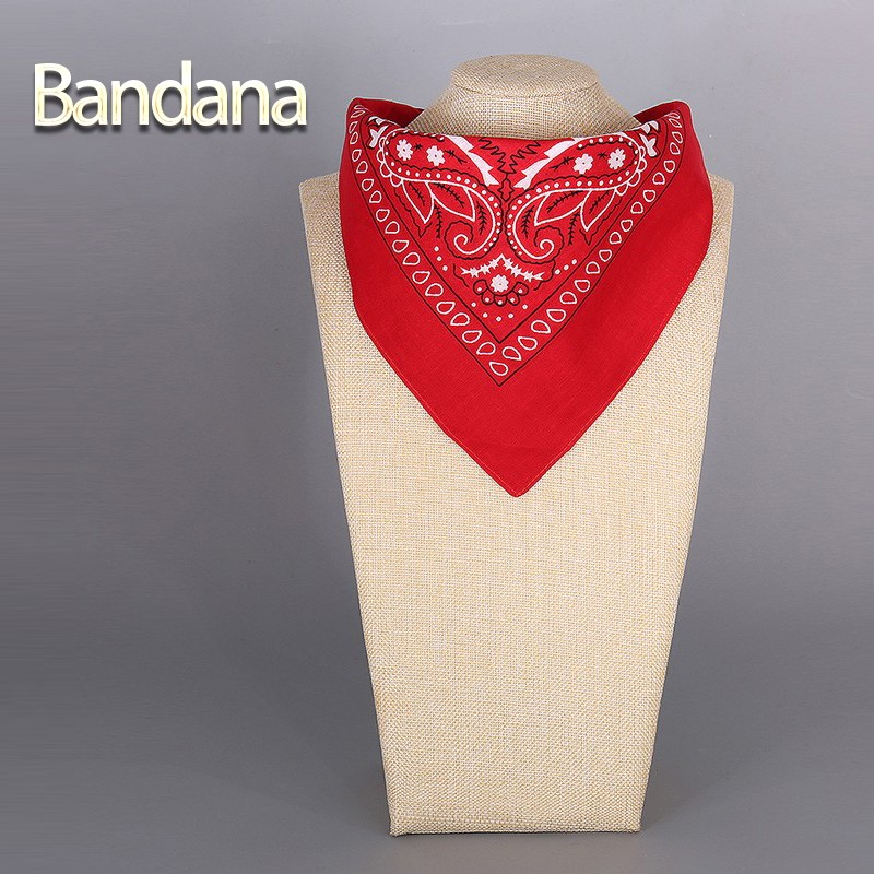 2017 Cotton Bandana Scarf Square Head Scarf Women Men Fashion Bicycle Bandana Motorcycle Female Bandanas Headwear Scarves Hijab(China (Mainland))