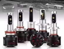 DLAND DCH 4800LM H1 H3 H7 9006 HB4 9005 HB3 H8 H9 H11 H10 HIGH POWER AUTO LED LIGHT BULB LAMP, IP68 12V 724V 40W DC, WITH FANS