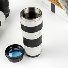 450ML Simulation Camera Len Mug Stainless Steel Lens Special Lid Caniam Coffee Cup With Gift Bag