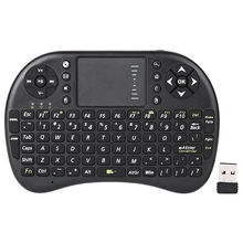 Mini UKB - 500 - RF 2.4GHz  Wireless QWERTY Keyboard Portable Touchpad Mouse Combo with Backlit for Smartphone Pad Laptop TVbox