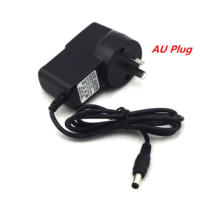 EU/US/UK/AU Plug Adapter AC 100-240V To DC 12V 1A 1000mA Power Supply 5.5mm x 2.1-2.5mm For 3528 Strip LED or other DC string