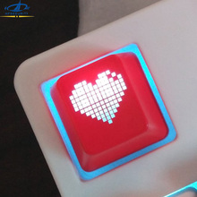 [HFSECURITY] OEM Backlight Mechanical Keyboard Key Cap ABS Cute Heart Keycaps for ESC F1 to F12 Number key(China)