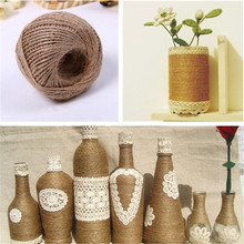1 Roll Gift Wrap Packing Material String Natural Burlap Hessian Jute Twine Cord Hemp Rope Rustic Wedding Party Decoration Favors