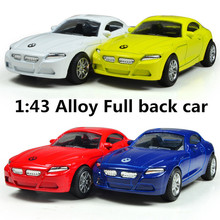 Classic toys! 1 : 43 Pull back high quality metal cars toy, Supercar, Diecasts car,Free Shipping