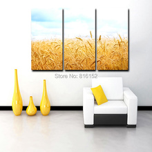 The Harvest of Golden Wheat Oil Painting on Canvas Wall Art Office,Restaurant or Room Decoration
