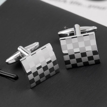Fashion French Shirt Laser Engraving Men Jewelry Unique Wedding Groom Men Cuff Links Business Silver Cufflinks For Mens