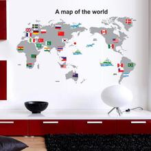 large PVC World Map Wall Sticker DIY office living room home decorations House Sticker mural wall decals poster Concise decor 2
