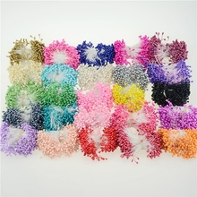 300pcs Mini Pearl Stamen Sugar Artificial Flower For Wedding Decoration DIY Pompom Scrapbooking Decorative Wreath Fake Flowers(China)
