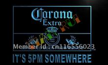 LA419- It's 5 pm Somewhere Corona Beer LED Neon Light Sign(China)