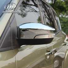 For Ford Escape Kuga rearview mirror cover exteriors ABS trim chrome styling decoration products accessory 2013-2015