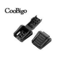 15pcs Zipper Pull Cord Ends For Paracord & Cord Tether Tip Cord Lock Plastic Black Outdoor Camping Backpack Bag Parts #FLS022-B
