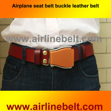 New arrival men automatic airline airplane seat belt buckle brand new fashion leather belts for business men high quality luxury(China)