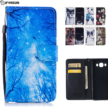For Samsung Galaxy J5 SAMSUNG J5 2016 J510 J500 2015 Case HOT Cute Animal Cat Dog Panda Stand Wallet Magnetic Leather Flip Cover(China)