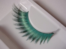 1 pairs Beautiful Green exaggerated 3D art false eyelashes eye tail stretch section stage catwalk photography nightclub PC10(China)