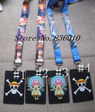 Hot Sale! 1 pcs Cartoon ONE PIECE Lanyard Key Chains Card Holders Bank Card Neck Strap Card Bus ID Holders(China)