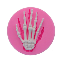 The palm hand bone Silicone Moulds for Halloween cake decorating tools Fondant Chocolate baking mold F0699