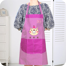 Adjustable cartoon striped overalls waiter aprons with pockets Chef Chef kitchen tools(China)