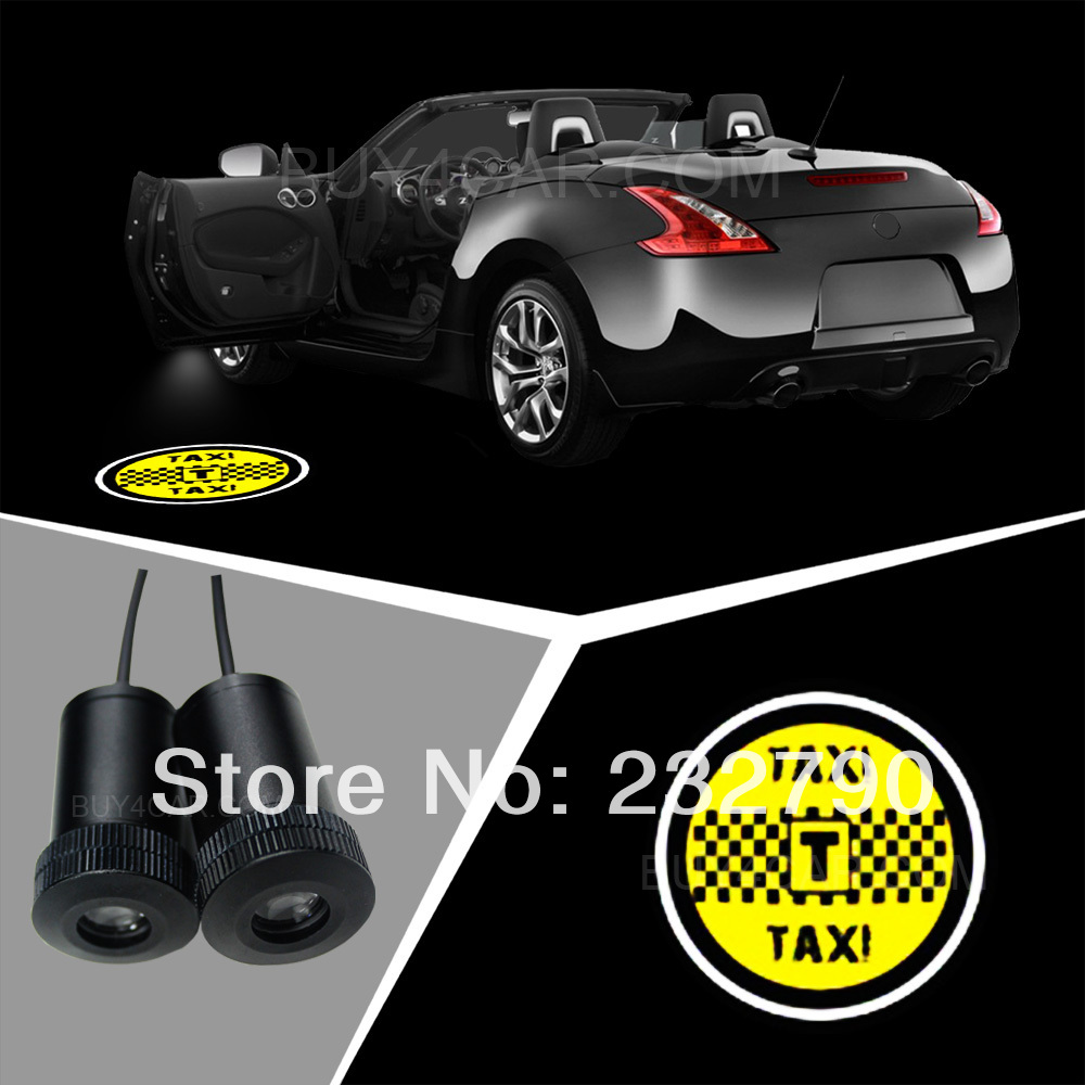 2pcs Welcome Open Door Courtesy Light Ghost Shadow Laser Projector Lamp Logo Auto LED Emblem For TAXI  Logo 3215<br><br>Aliexpress