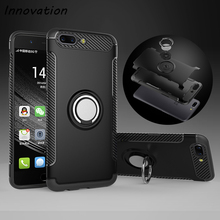 Innovation Case Oneplus 5 Car Holder Stand Magnetic Suction Bracket Finger Ring TPU + PC Robot Back Cover One Plus 5 Phone Cases(China)