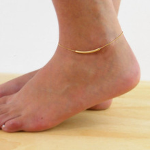 2017 the most fashionable charms barefoot sandals jewelry Simple metal copper pipe Women's fashion leg chain & ankle bracelet