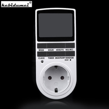 New in 7 Day 12/24h AC Digital LCD Programmable Smart Power Timer Switch Socket EU US PlugTop Quality