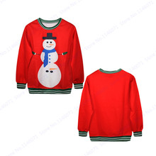 Mens Hoodies & Sweatshirts Kawaii Christmas Snowman Training Sweaters Autumn Red Tracksuits Winter Oversized Hip Hop Sport Suit